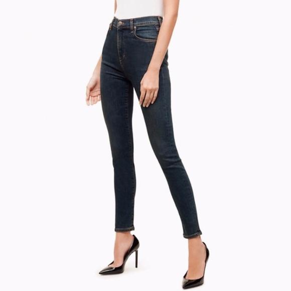 Talula x Agolde Sky-high Skinny Blue Jeans